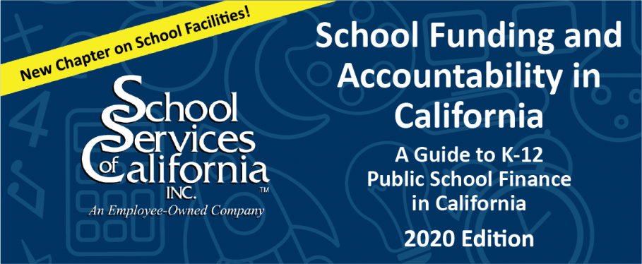 "Blue graphic with: ""School Funding and Accountability in CA"""